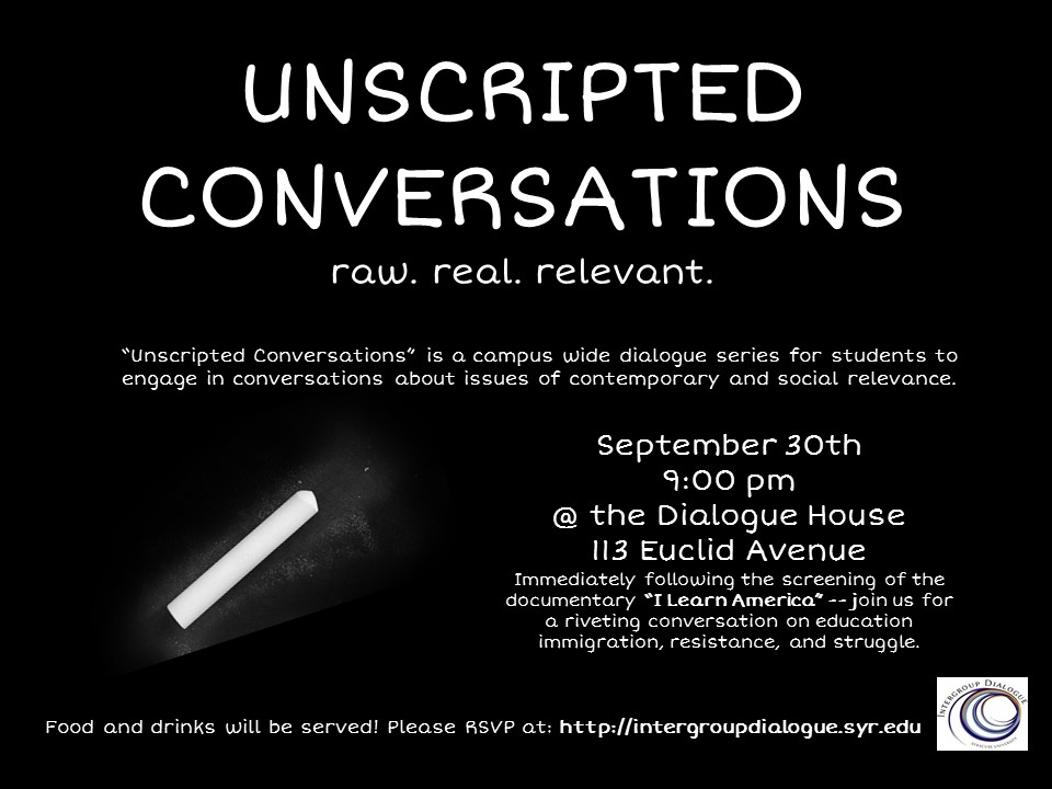 Unscripted Conversations - Sept 30th
