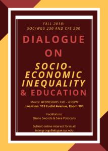 Dialogie on Socio-Economic Inequality and Education