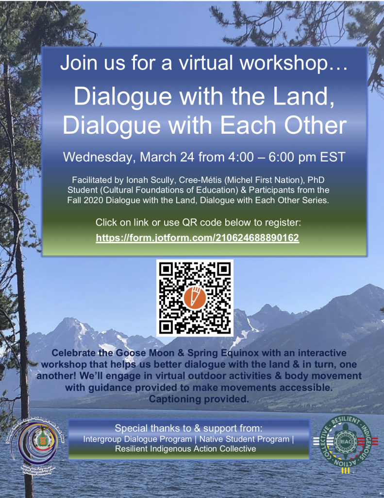 Dialogue with the Land, Dialogue with Each Other Workshop